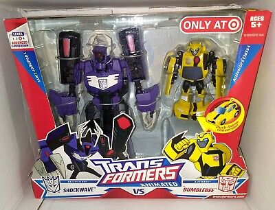 Transformers Animated Shockwave VS Bumblebee Target Exclusive MISB