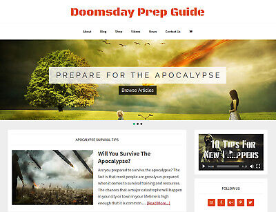 New Design Doomsday Prep Store Blog Website Business For Sale Auto Content