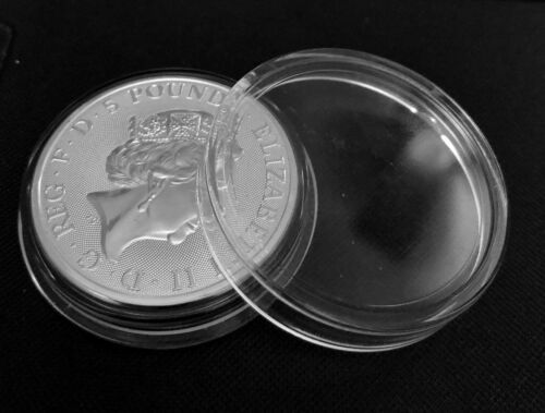 5 x Coin Holder Capsules 38.6 mm for 2 oz Great Britain Silver Queen