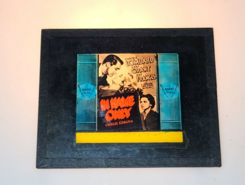 CAROLE LOMBARD KAY FRANCIS CARY GRANT IN NAME ONLY GLASS MOVIE GLASS SLIDE 1939