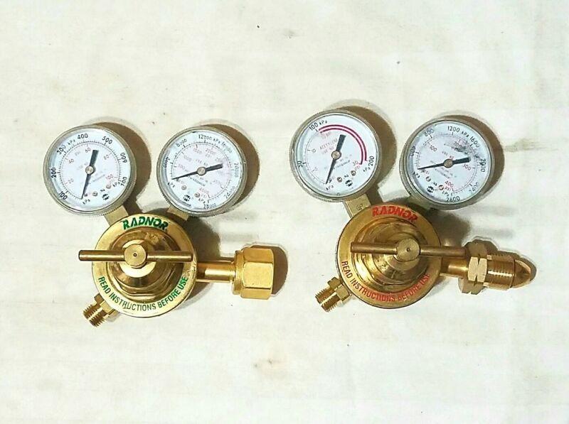 RADNOR Victor Style 250 Regulator Set Oxygen Acetylene Cutting Welding Torch