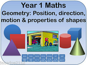 year 1 maths geometry position direction motion shapes teaching resources cd ebay. Black Bedroom Furniture Sets. Home Design Ideas