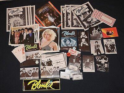 80 Items 1979 Official Blondie Fan Club Lot Debbie Harry Collectors pack Deborah