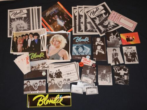 Official Blondie Fan Club Lot 80 Items 1979 Debbie Harry Collectors pack Deborah
