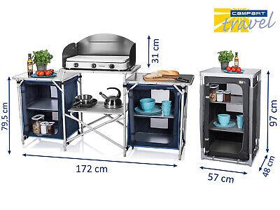 YELLOWSTONE Campingküche Vorzelt Reiseküche Campingschrank Kocher Windschutz