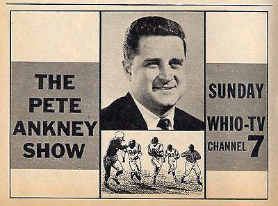 1964 Whio Tv Ad Pete Ankney Show Football Coach Fairmont High School Dayton Ohio