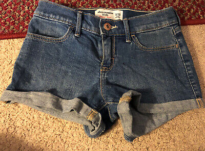 EIC Abercrombie Kids Denim Jean CUFFED Shorts Size 9/10