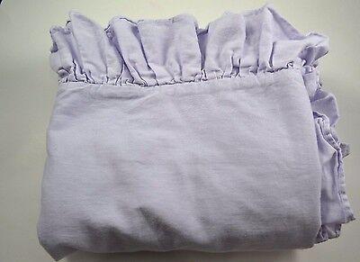 Pottery Barn Lavender Ruffle Toddler Baby Duvet Blanket #27