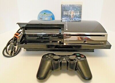 Sony PlayStation 3 60GB Piano Black Console CECH-A01 Backwards Compatible