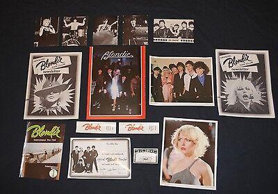 Damaged Lot 1979 Official Blondie Fan Club Debbie Harry 15 items Deborah
