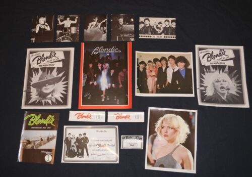 Damaged Lot 1979 Official Blondie Fan Club items Debbie Harry 15 items Deborah