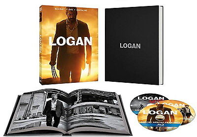 Logan   Target Exclusive  Blu Ray  Dvd  Noir Ver  Digital  W 36 Page Photo Coll