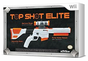 NEW Cabela's Big Game Hunter 2012 Nintendo Wii Top Shot Elite Rifle Gun Only