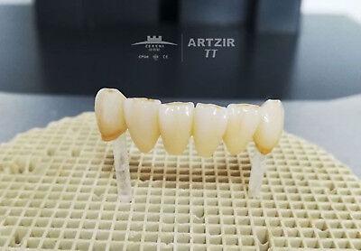 High Translucent 55 Dental Zirconia Ceramic Blocks 98mm X 12mm Milling System
