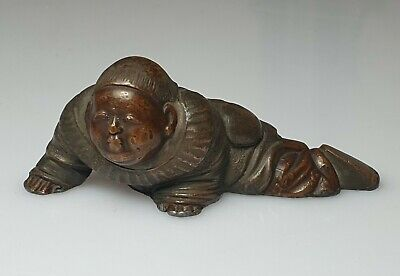 A Fine Edo/Meiji Period Bronze Scroll Weight.