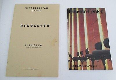 Metropolitan Opera RIGOLETTO Libretto & Program