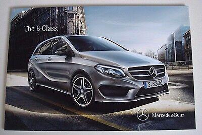 Mercedes . B - Class . Mercedes B Class . November 2014 Sales Brochure