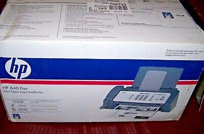 Hp 640 Fax Machine - Plain Paper Inkjet - Cb782-30001 - Nos Needs Ink