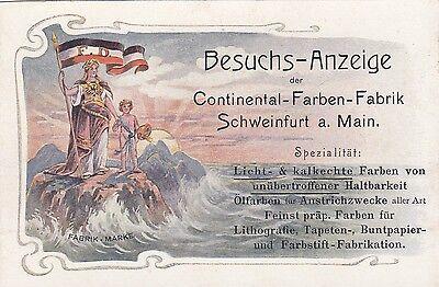 Continental Farben Schweinfurt AK um 1900 Reklame Künstler Bayern 1702266