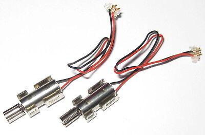 2 X Phone Toy Micro Vibrator Motor W Mounting Bracket Cable Plug- 3 V Dc