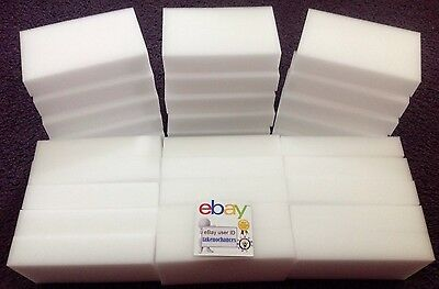 """30 BULK PACK Magic Sponge Eraser Melamine Foam Cleaning 3/4"""" Thick USA Seller"""