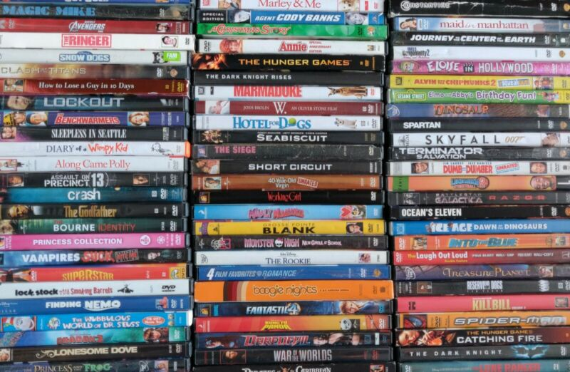 100 DVD Lot - Bulk Wholesale Used DVD Movies - Assorted Titles and Genres