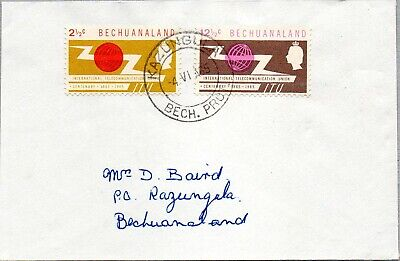 BECHUANALAND - 1965 COVER BEARS THE SET OF INT. TELECOMMUNICATION UNION 2½c/12½c