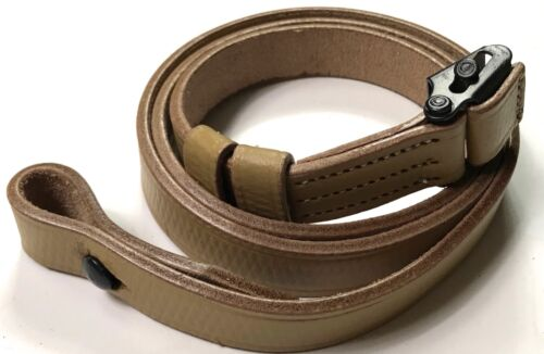 WWII GERMAN MP LEATHER CARRY SLING-NATURAL LEATHER