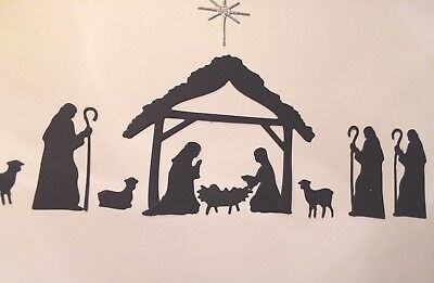 Nativity Mary, Joseph, 3 Wise Men Christmas Religious Die Cuts 12 Pc Sets