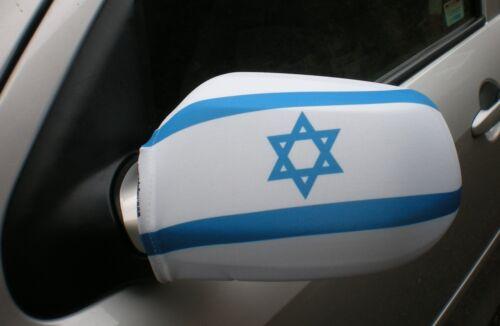 CAR WING MIRROR SOCKS FLAGS, COVERS, FLAG-UPS! - ISRAEL  STAR OF DAVID