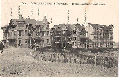 Zeer mooie oude postkaart,  DUINBERGEN , Rampe Princesse-Elisabeth (PK820)