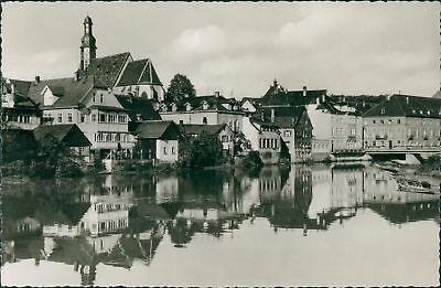 Ansichtskarte Gernsbach im Murgtal Partie an der Murg 1956  (Nr.929)