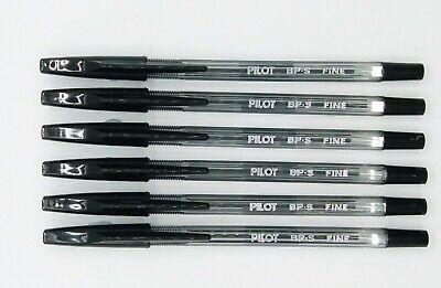 Pilot Bp-s 0.7mm Fine Ball Point Pen 6 Pcs Black C