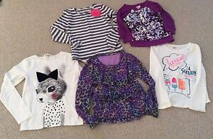 Lot Of 5 Long Sleeve Tops Girls Size 8-10 (7-8 Year Old) Cambridge Kitchener Area image 1