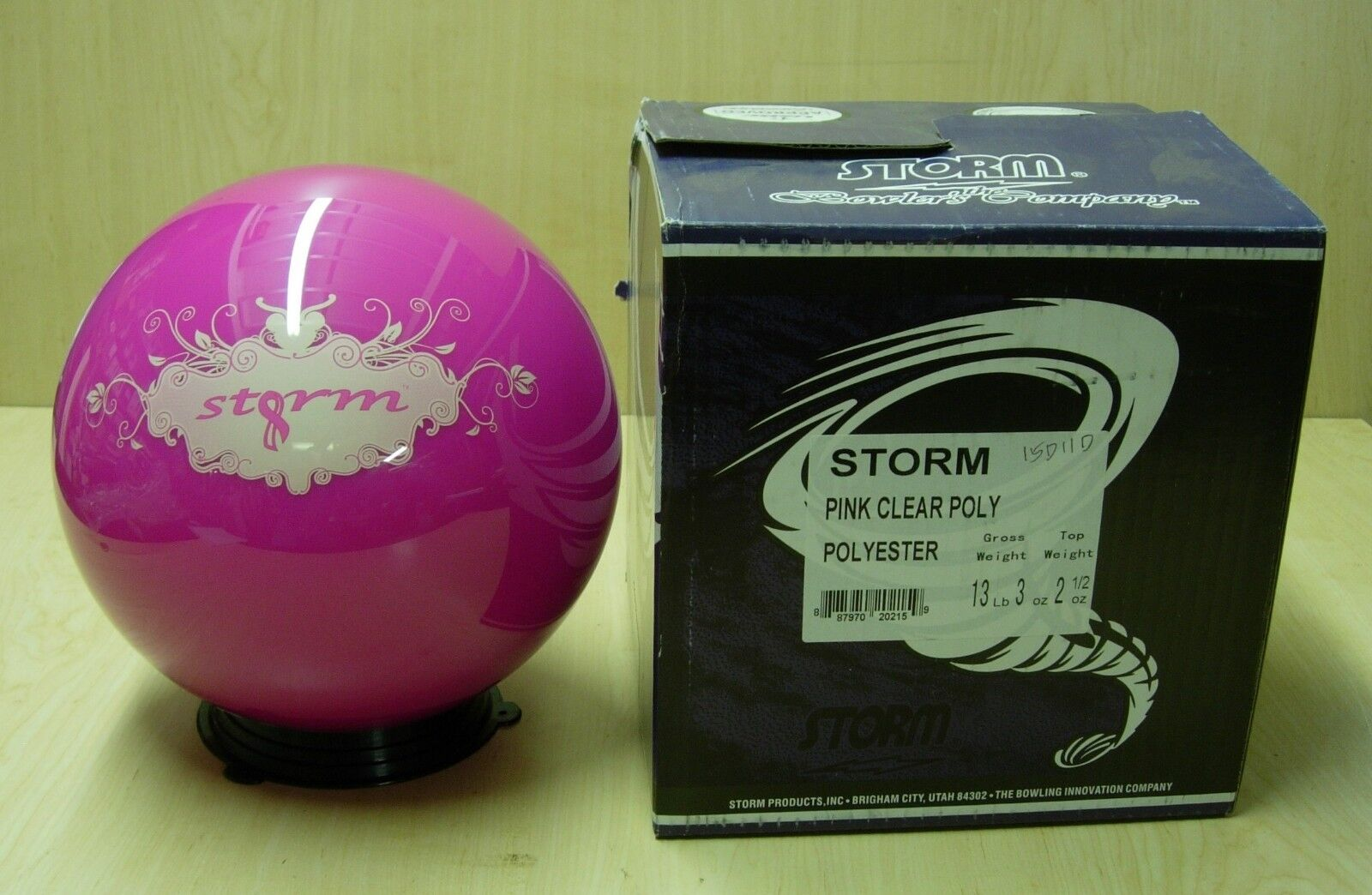 13 3oz Tw 2.5 2014 Storm Pink Clear Poly Bowling Ball