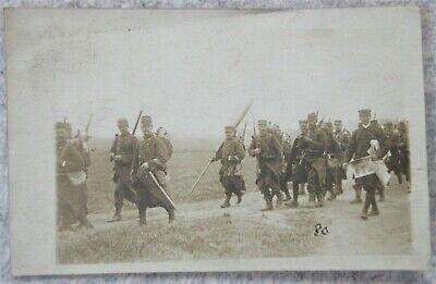 Carte photo Militaire Belge en campagne - guerre 14-18 WW1 Armée Belge CP
