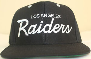 LA RAIDERS SNAPBACK HAT  RETRO SCRIPT LOS ANGELES OAKLAND LA CAP GREY BUTTON