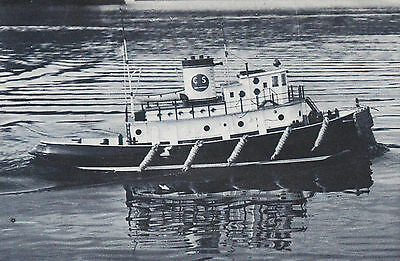 Giant Scale Lazy Allen Tug Boat R/C Model Ship Plans, Templates and Instructions