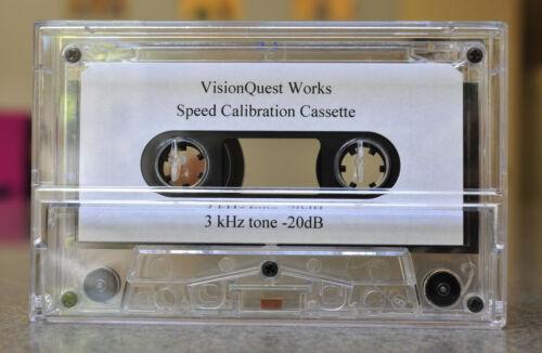 Speed Calibration Audio Cassette