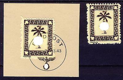 1943 Feldpost Tunis  (*) + 1 auf Briefstück Forgery,Reprint,Fälschung