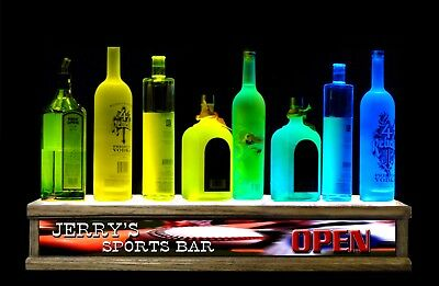 24 Liquor Bottle Display Color Led Personalized Sports Bar Sign