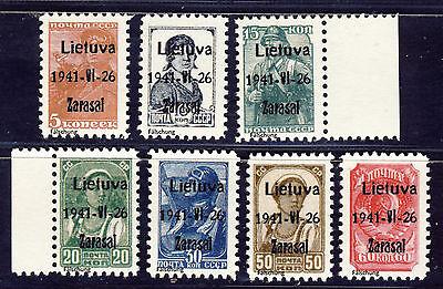 """Litauen """" Zarasai """" Freimarken1941 Mi# 1-7 (*) REPRINT Fälschung"""