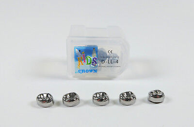 10pc Dental Kid Primary Molar Crown Lld4 Stainless Steel Preformed 3m Compatible