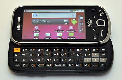 Samsung Intercept M910 Android Phone Virgin-Mobile STEEL GRAY keyboard WiFi text Samsung Mobile Keyboard
