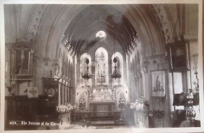 Postcard~RP ~The Interior of the Church, Whippingham, I.O.W.~B&W~Nigh's