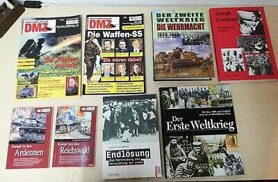 Zeitschriften Bücher 1 2 WK Landser Wehrmacht Endlösung Joseph Göbbels Waffen SS