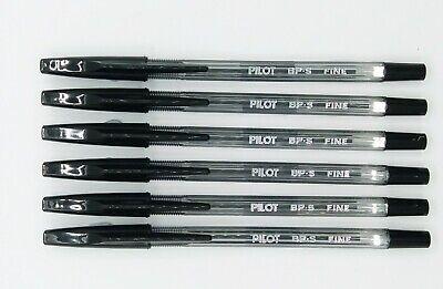 Pilot Bp-s 0.7mm Fine Ball Point Pen 6 Pcs Black I