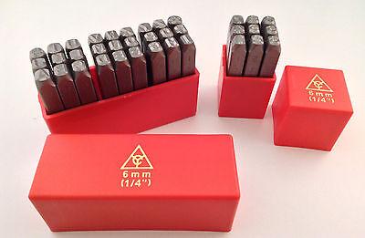 36pc 14 6mm Letter Number Stamp Punch Set Hardened Steel Metal Wood Leather