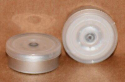 20mm Aluminum Plain Flip Top Serum Vial Seals Clear - Qty. 25
