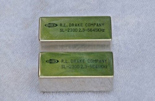 Qty)-2 Drake SL-2300 2.3 5645 kHz Crystal Filter, TR-7 NOS Vintage Ham Radio